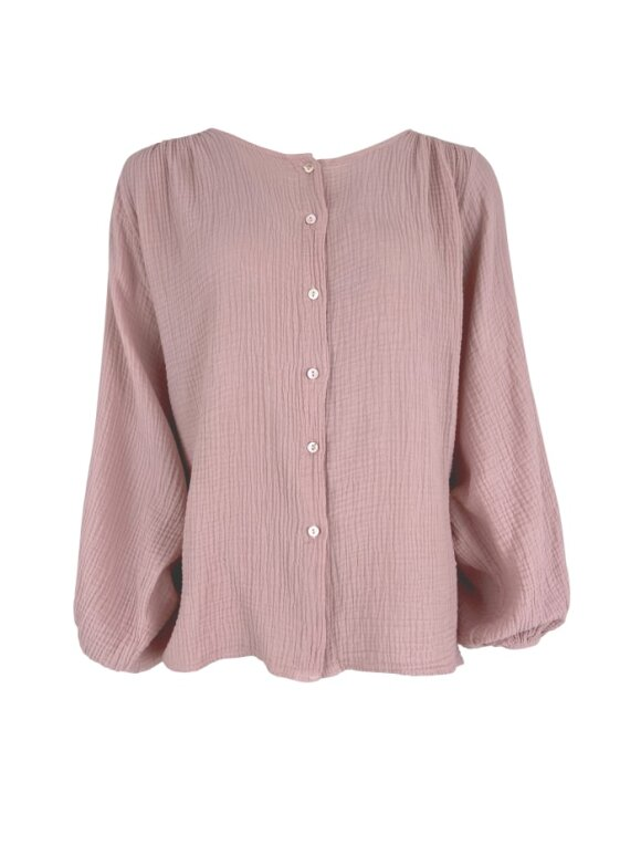 Black Colour - Dune puff shirt Rose