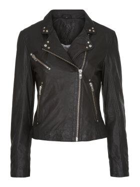Notyz - Biker jacket black w. silver